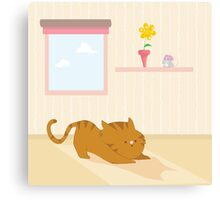 Playful cat Canvas Print