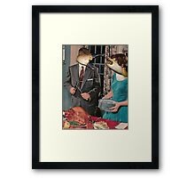Mr and Mrs Claws Framed Print