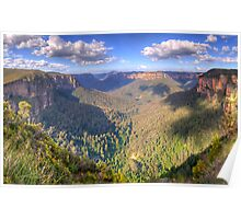 Majesty  Second Cut- Govetts Leap, Blue Mountains, Sydney  - The HDR Experience Poster