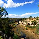 Rt83 Bridge over Cherry Creek, Castlewood Canyon by Bernie Garland