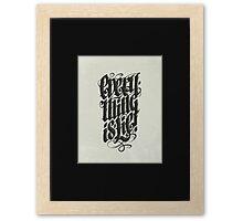 Everything... Framed Print