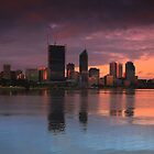City Skyline at Sunset by Jill Fisher