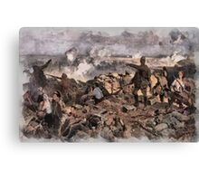 World War 1 - The Battle of Ypres by Richard Jack Canvas Print