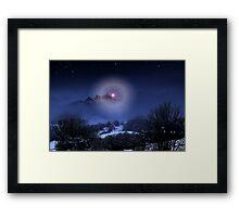 A Snow Story Framed Print