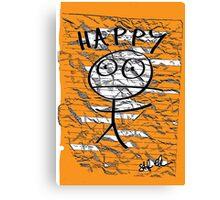 HAPPY STICKMAN Canvas Print