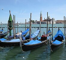 Gondolas, Venice. by machka