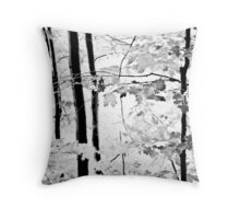 Early Summer in Monochrome Throw Pillow