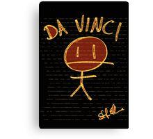 DA VINCI STICKMAN Canvas Print