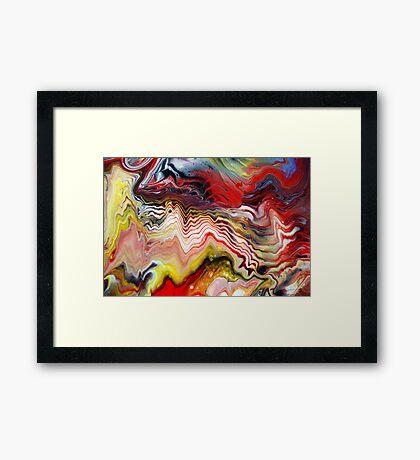 Abstract Acrylic Fluid Effects Framed Print