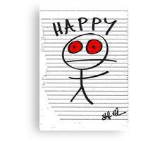 HAPPY STICKMAN (WHITE) Canvas Print