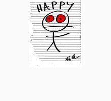 HAPPY STICKMAN (WHITE) Unisex T-Shirt