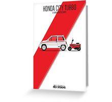 Honda City Turbo & Motocompo Greeting Card