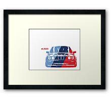BMW 3 Series (E30) Grungy M stripe overlay Framed Print