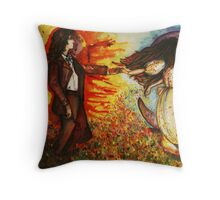 Moon and Sun ancient story Throw Pillow