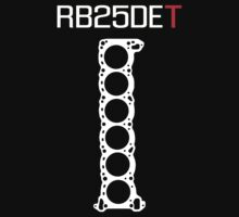 Nissan RB25DET Engine Head Gasket design for a dark shirt by ApexFibers