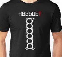 RB25DET Engine Head Gasket design for a dark shirt Unisex T-Shirt