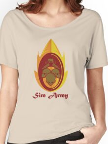 Sim Crest Women's Relaxed Fit T-Shirt