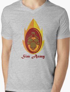 Sim Crest Mens V-Neck T-Shirt