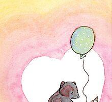 Birthday Balloon by RontufoxPrints
