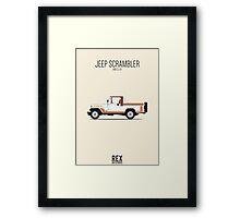 Jeep CJ-8 Scrambler Framed Print