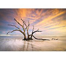 The Calm - Folly Beach at Sunset - Charleston, SC, USA Photographic Print