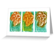 Three Angry Bouquets Greeting Card