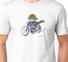 MOTORCYCLE EXCELSIOR STYLE (BLUE BIKE) Unisex T-Shirt