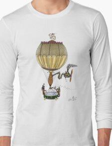 STEAMPUNK HOT AIR BALLOON Long Sleeve T-Shirt