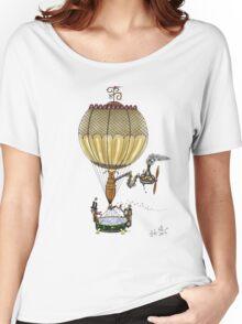 STEAMPUNK HOT AIR BALLOON Women's Relaxed Fit T-Shirt