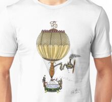 STEAMPUNK HOT AIR BALLOON Unisex T-Shirt