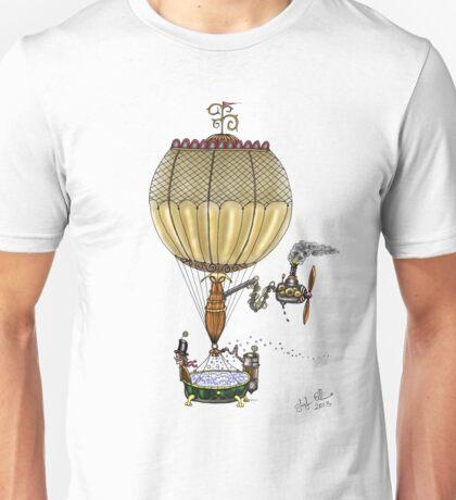STEAMPUNK HOT AIR BALLOON Unisex T-Shirt