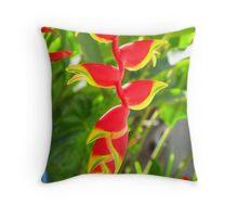Flashing blossoms - nature art Throw Pillow