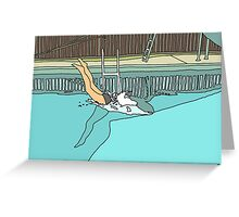 Diver - Woman Diving into Swimming Pool Greeting Card