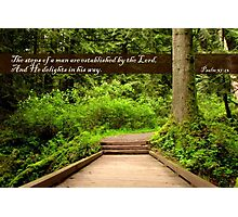 Steps of a Righteous Man (Card) Photographic Print