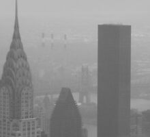 View of Chrysler Building and Bridge From Empire State Building by Sarah Louise English