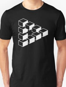 Sheldon Dreieck Big Bang Theory Triforce Illusion 3D Nerd Fun USA T-Shirt