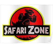 Safari Zone X Jurassic Park V2 Poster