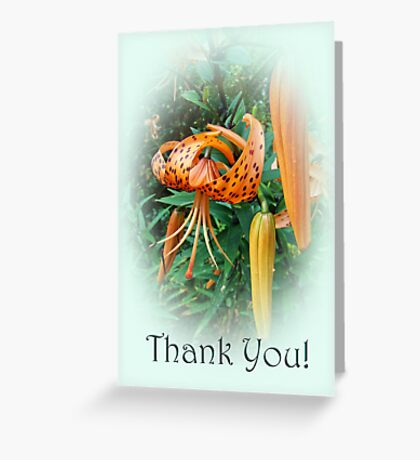 Thank You Card - Turks Cap Lilies Greeting Card
