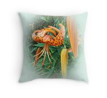 Thank You Card - Turks Cap Lilies Throw Pillow