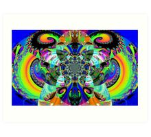 Mothra (Creature from the Fractal Explosion) Art Print