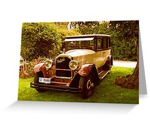 1926 Packard - 333 Limo Greeting Card