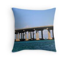 Destin Bridge Throw Pillow