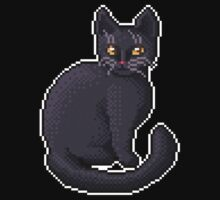 Pixel Black Cat Kids Clothes