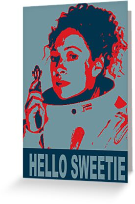 River Song Hello Sweetie ( Greeting Card ,Poster & Print ) by PopCultFanatics