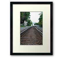 Train Tracks - Waukesha, WI Framed Print