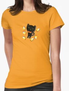 Black Cat Sweetheart and Candy Corn T-Shirt