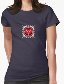 Colorful illustration with hearts, love and harmony concept Womens Fitted T-Shirt