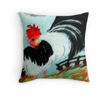 The king of the yard!, watercolor Throw Pillow