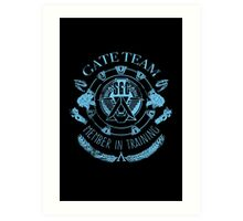 SG1 Gate Team Member In Training Blue Art Print