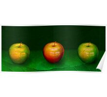 Three Apples Poster